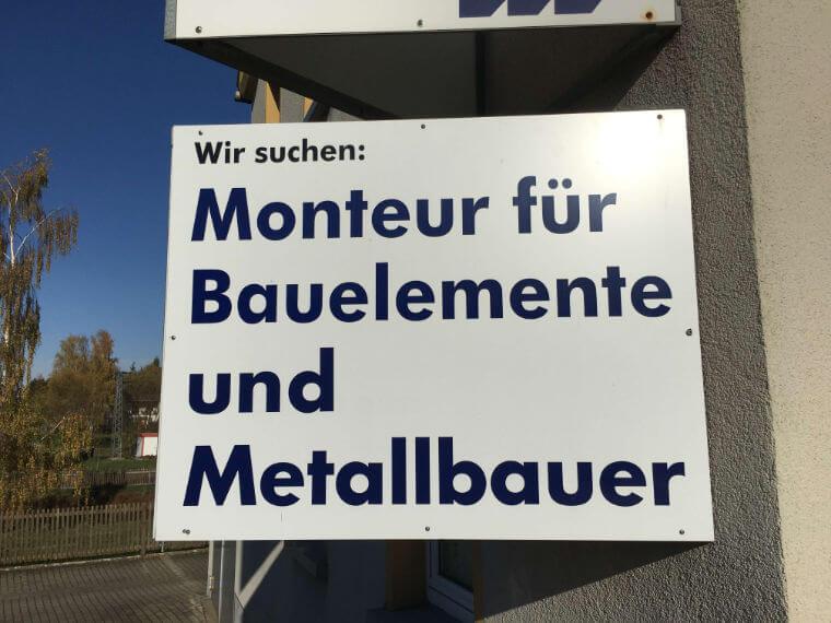 Stellenanzeige Schild - Metallbau Polenz GmbH in Braunichswalde
